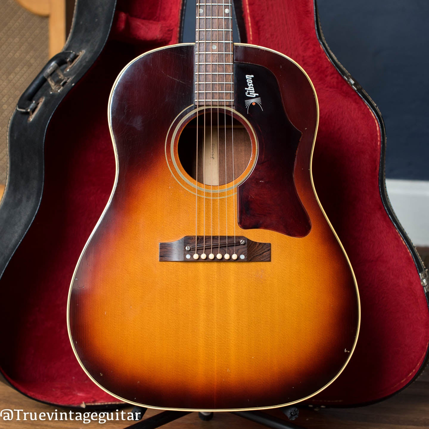 vintage 1960s Gibson acoustic guitar