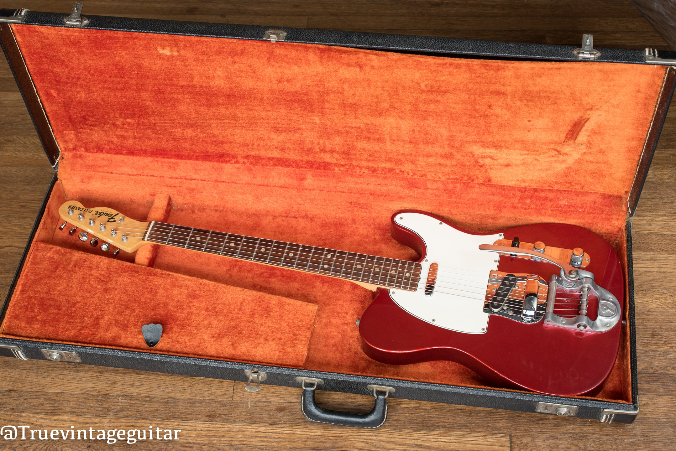 Vintage 1968 Fender Telecaster Candy Apple Red Metallic Bigsby electric guitar in original case