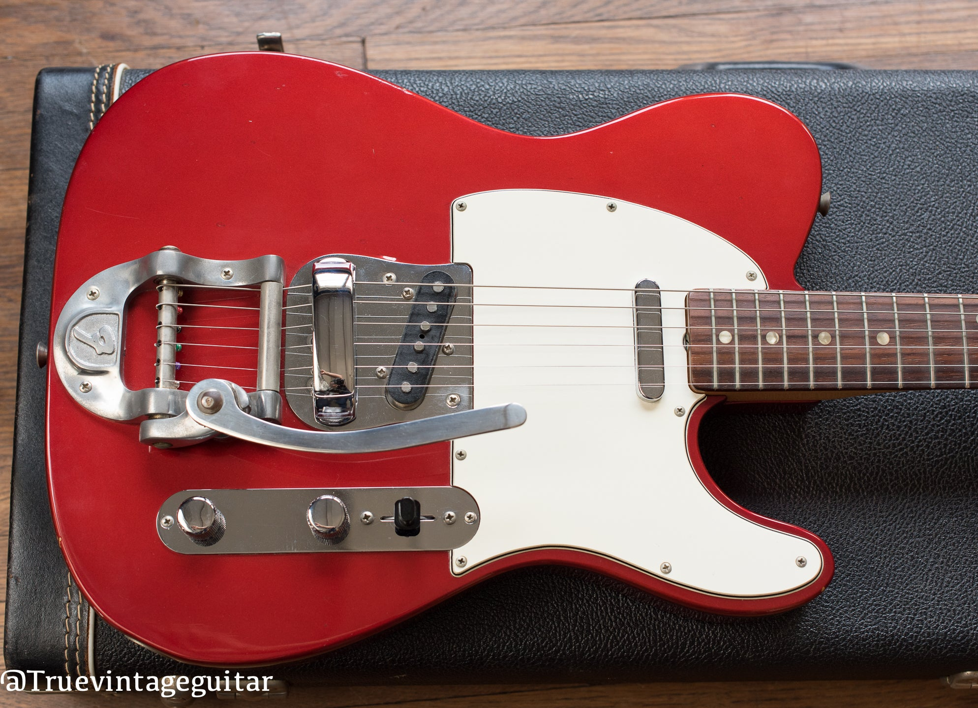 Vintage 1968 Fender Telecaster Candy Apple Red Metallic Bigsby electric guitar
