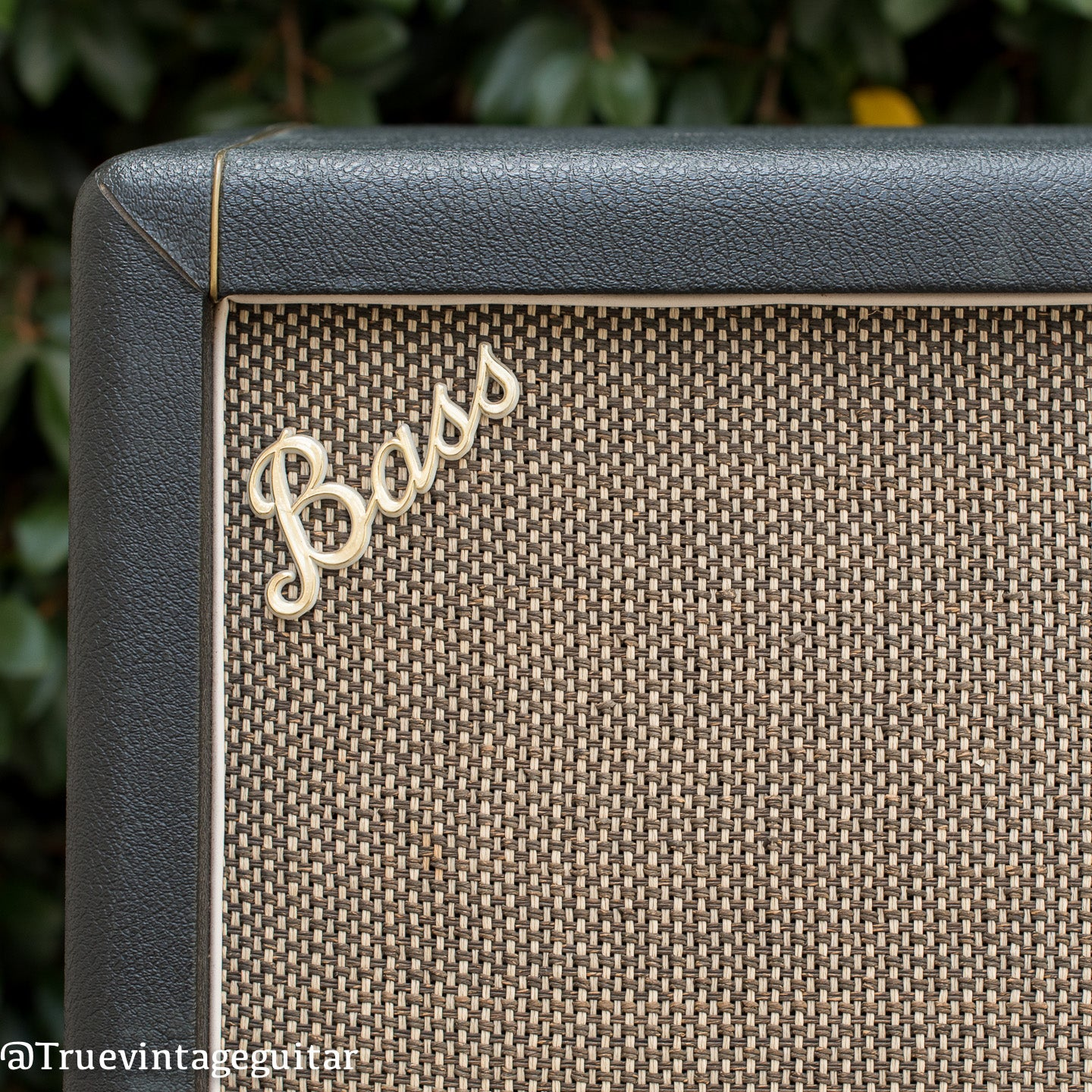 Bass logo, vintage 1968 Marshall cabinet model 1982a