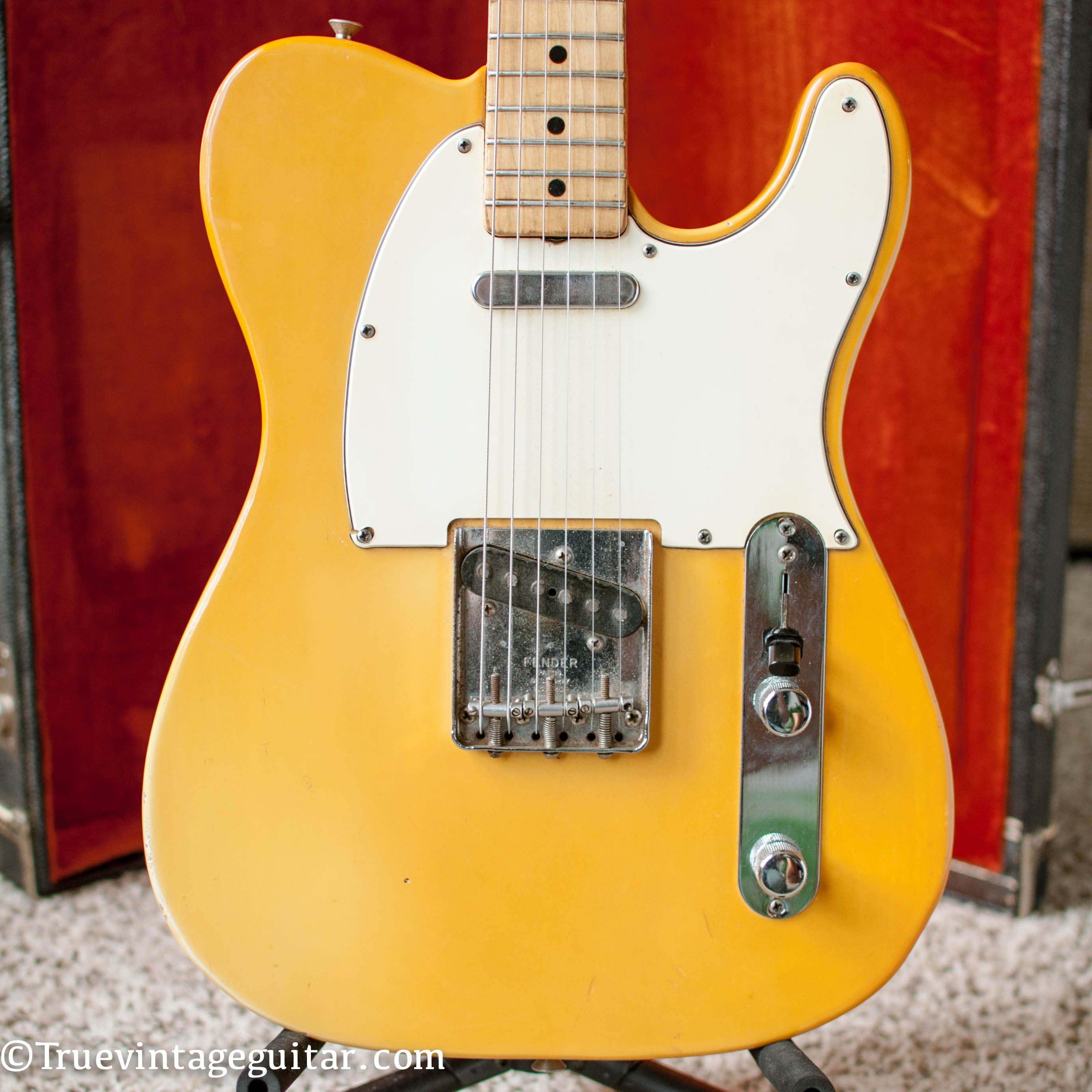 vintage 1969 Fender Telecaster yellowed Olympic White guitar