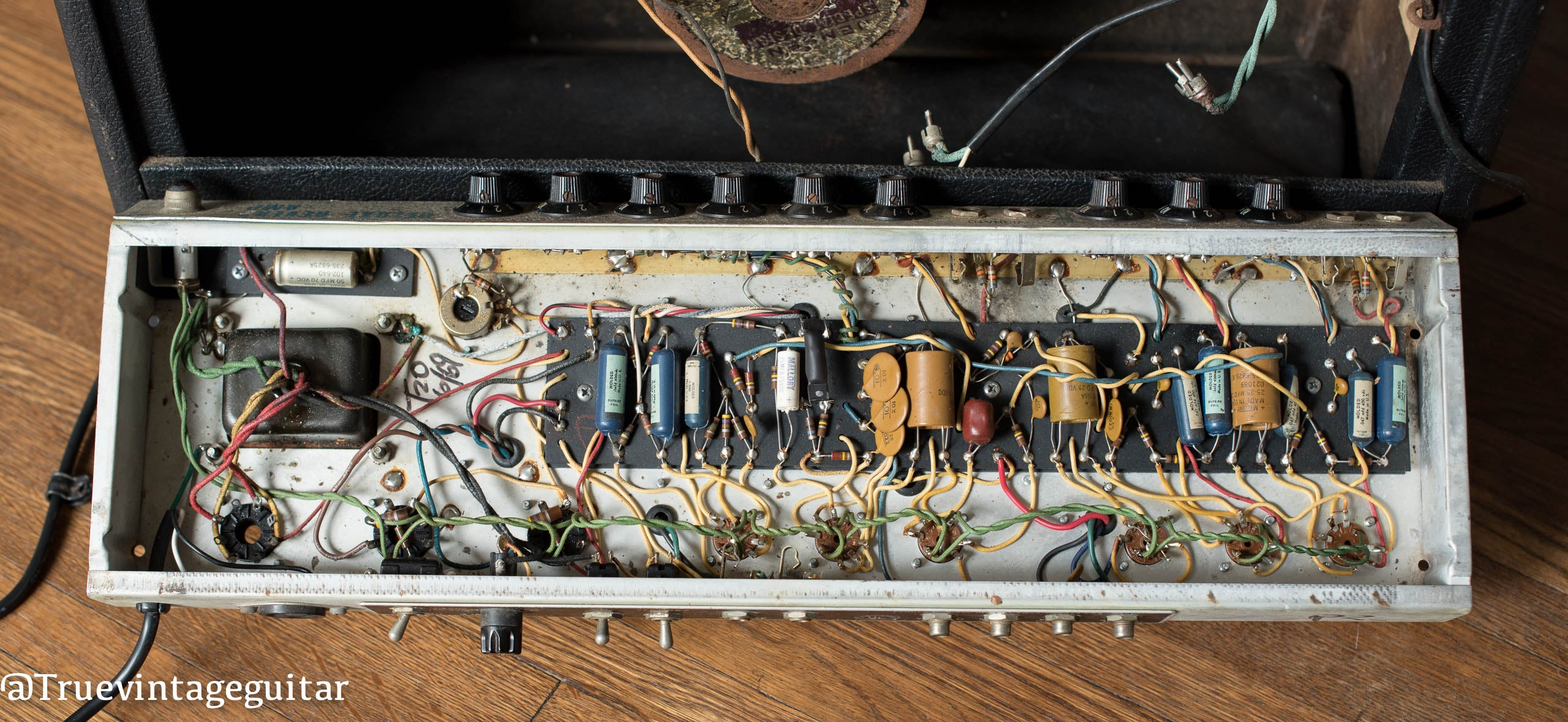 Fender chassis, circuit board, 1969 Deluxe Reverb