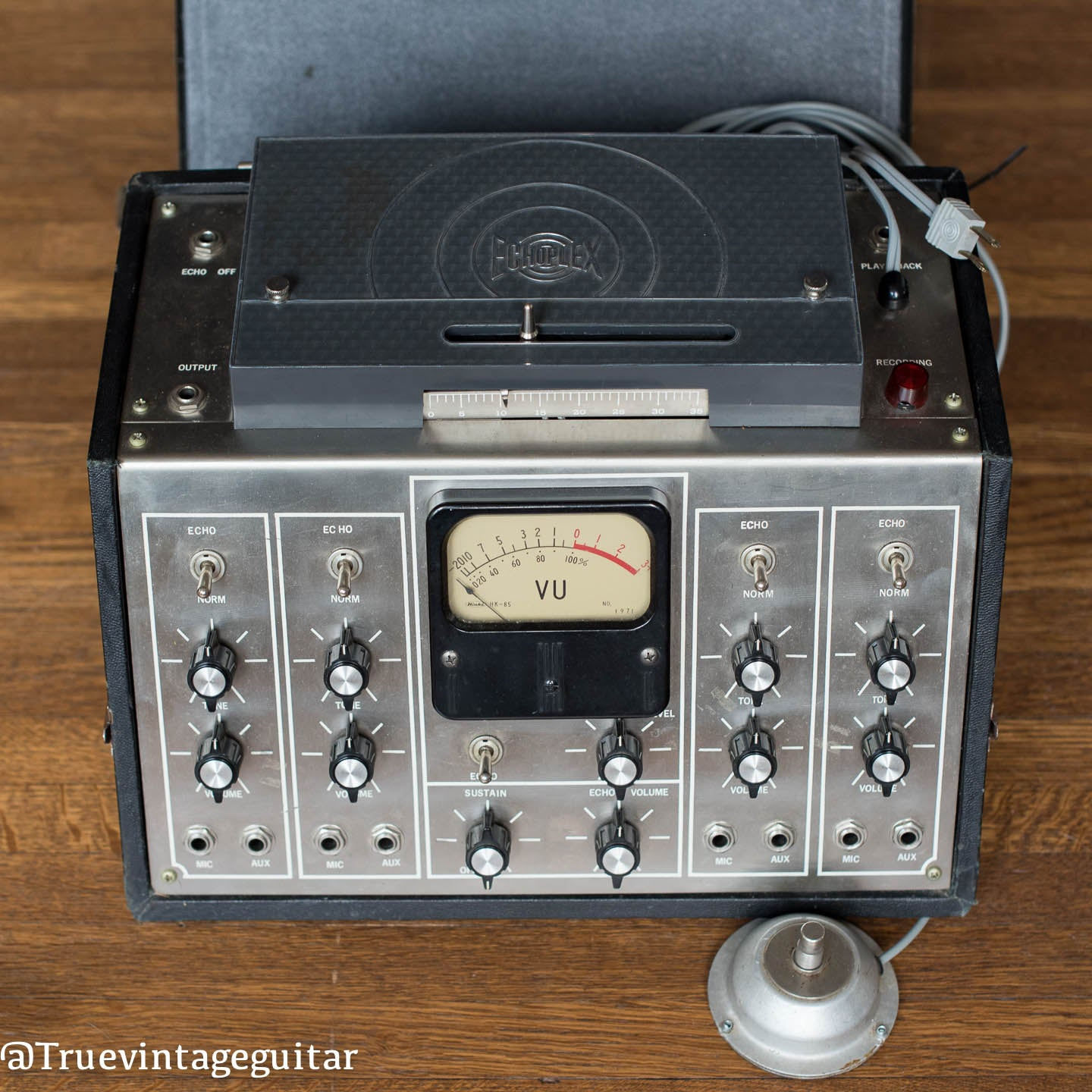 Maestro Echoplex tape machine, vu meter