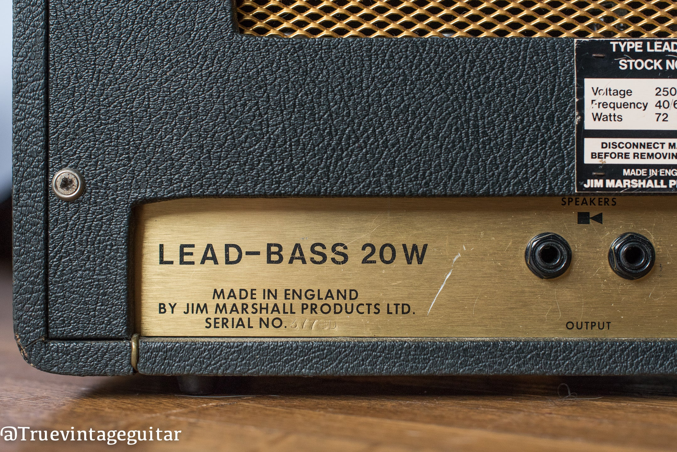 Lead-Bass 20 2061 Marshall guitar amplifier