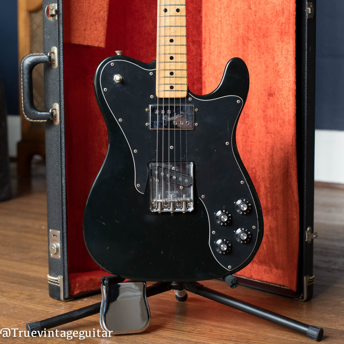 Vintage 1973 Fender Telecaster Custom Black guitar
