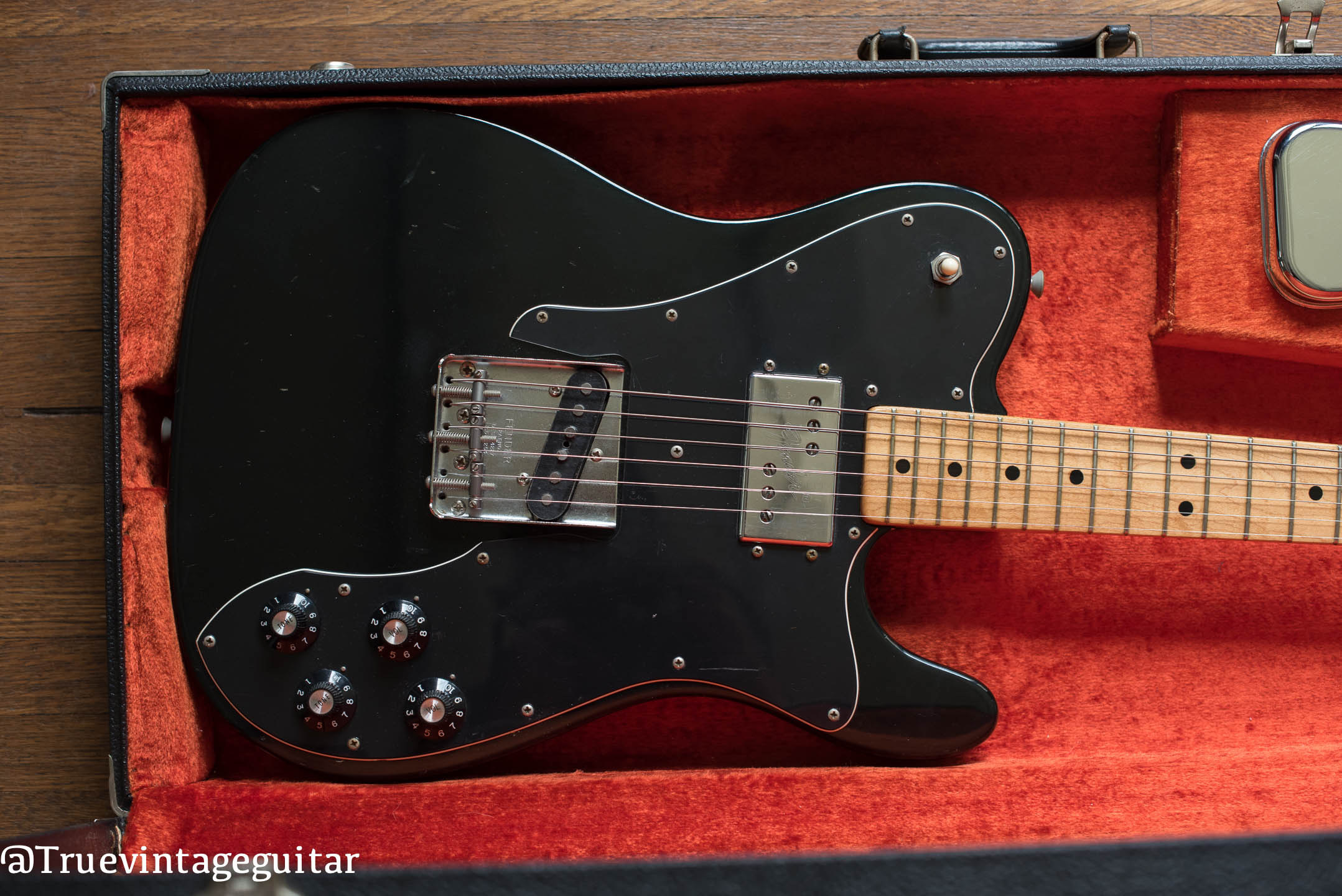 Fender Telecaster Custom Black electric guitar vintage