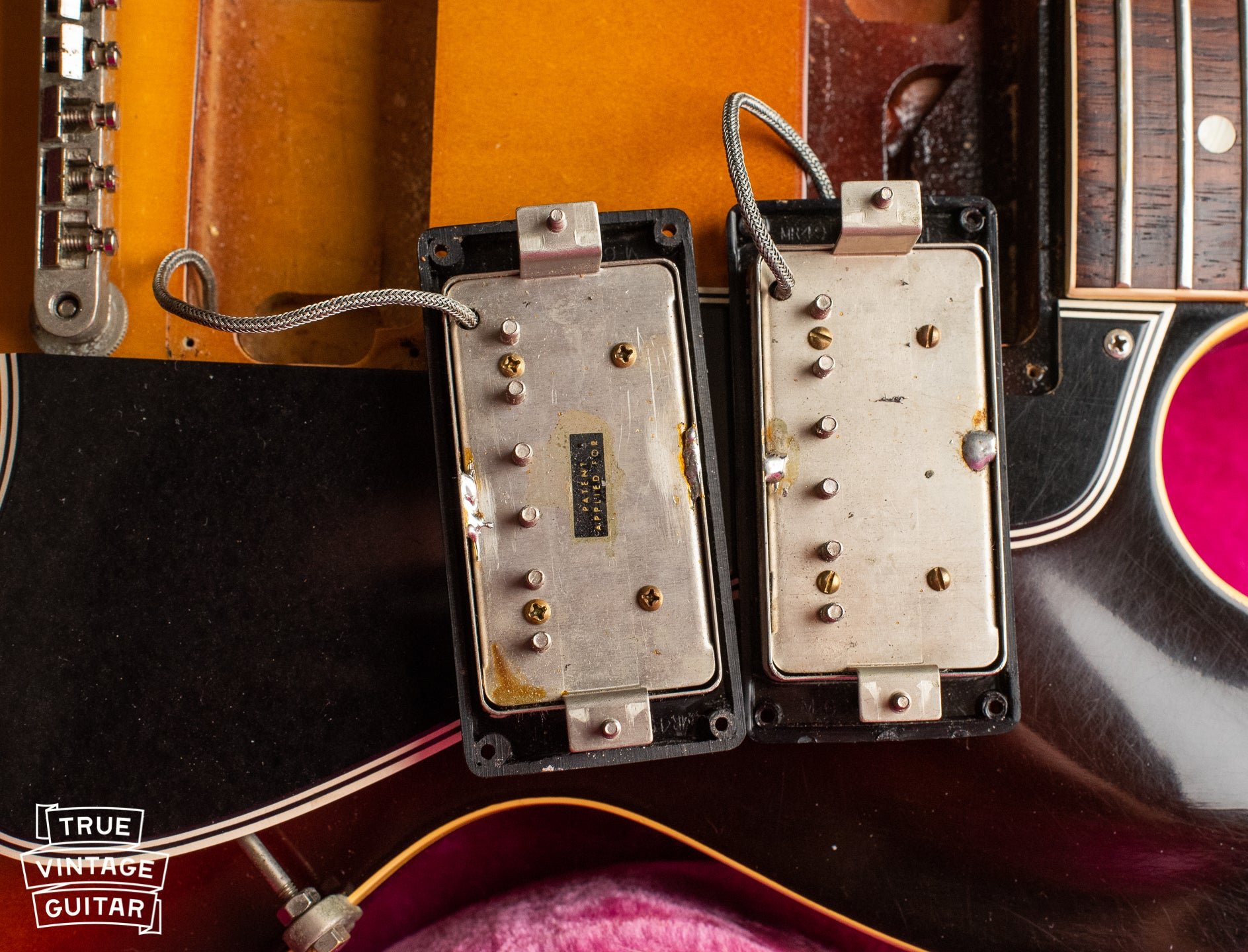Original Patent Applied for humbucking pickups, PAF pickups, 1960 Gibson ES-335