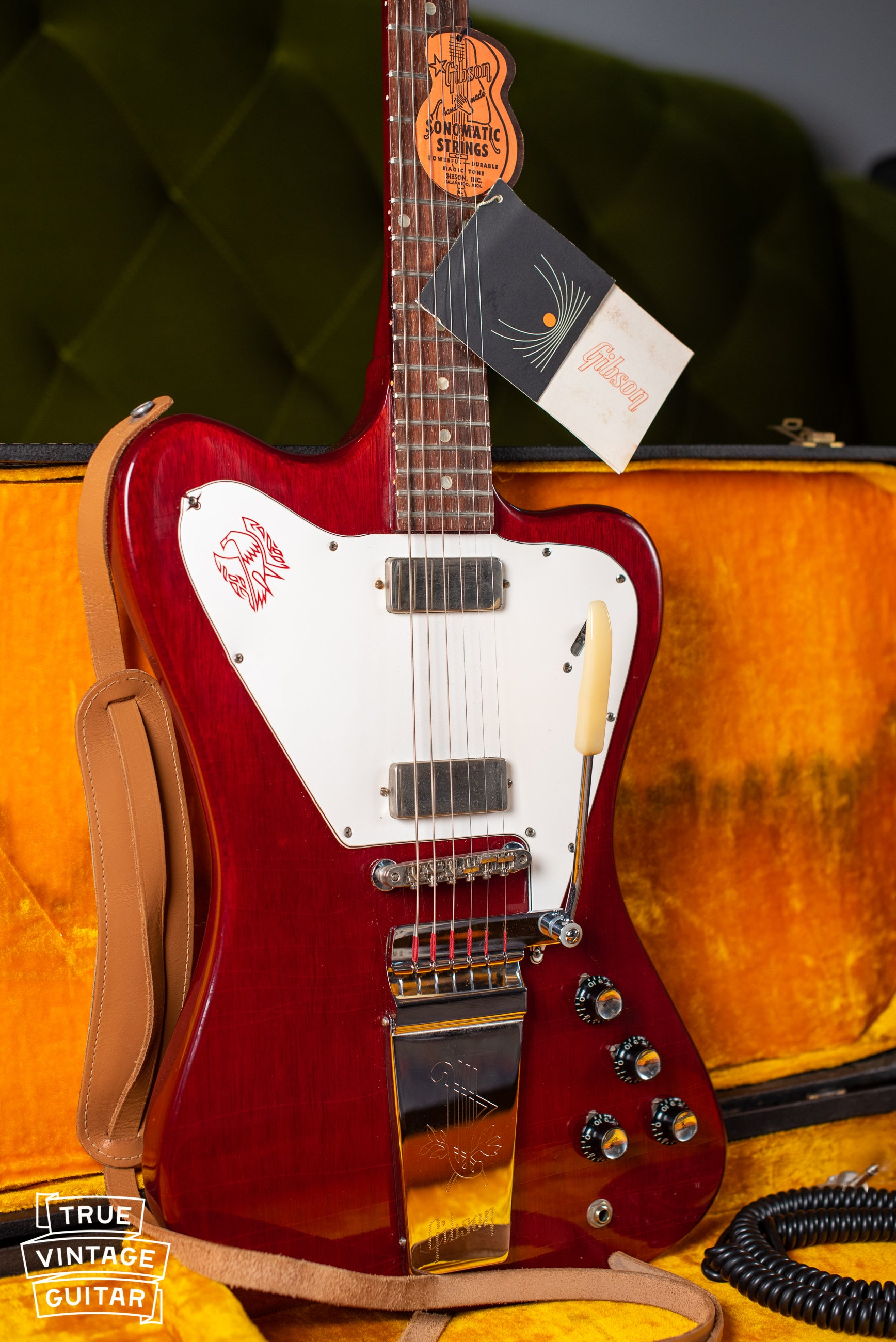 Vintage 1965 Gibson Firebird V Cherry Red electric guitar