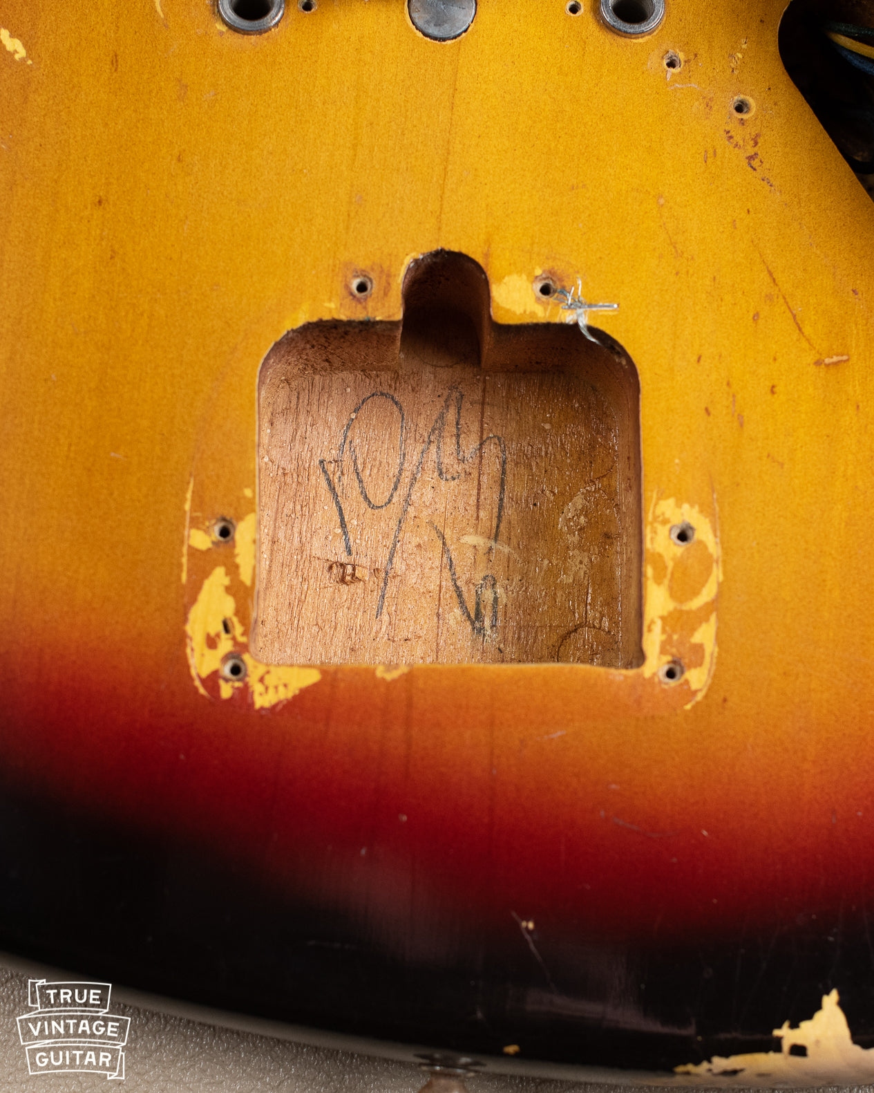 How to date a Fender Jaguar with pencil date marks