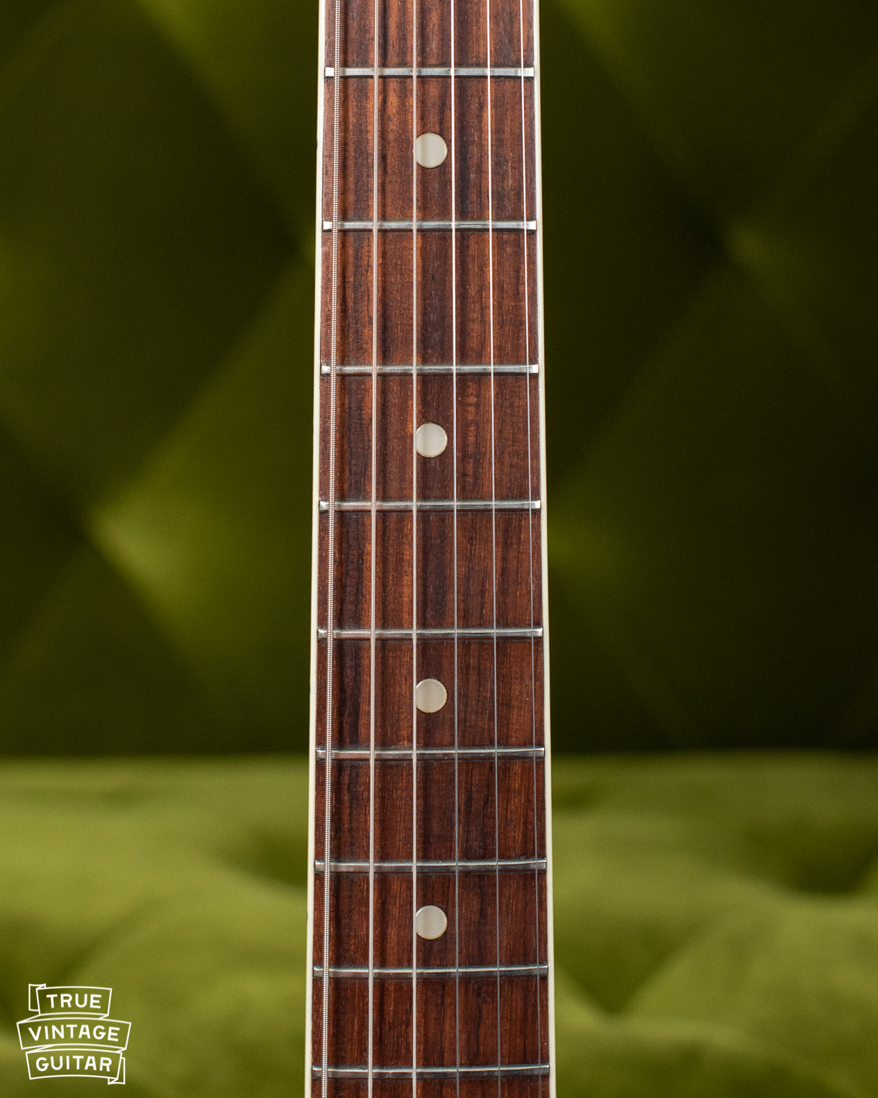 How to date a Fender Jaguar neck, pearl dots and binding