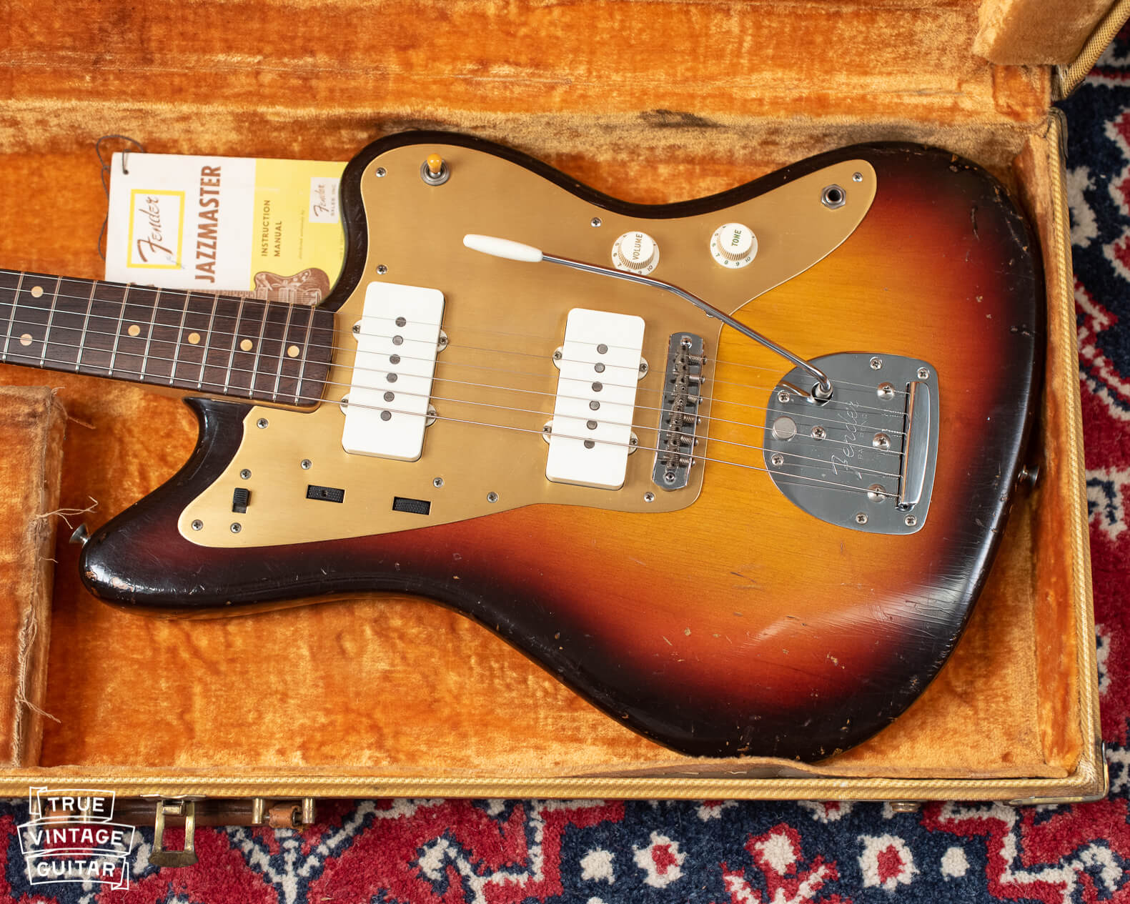 What is a gold guard Fender Jazzmaster