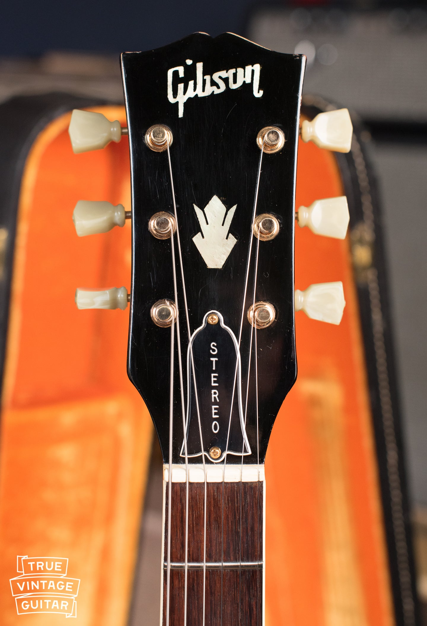 Gibson ES-345 late 1960s skinny neck and headstock with pearl Gibson logo