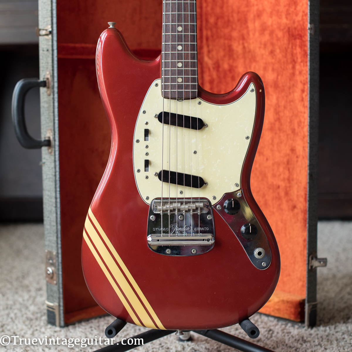 Vintage 1970 Fender Mustang Competition Red electric guitar