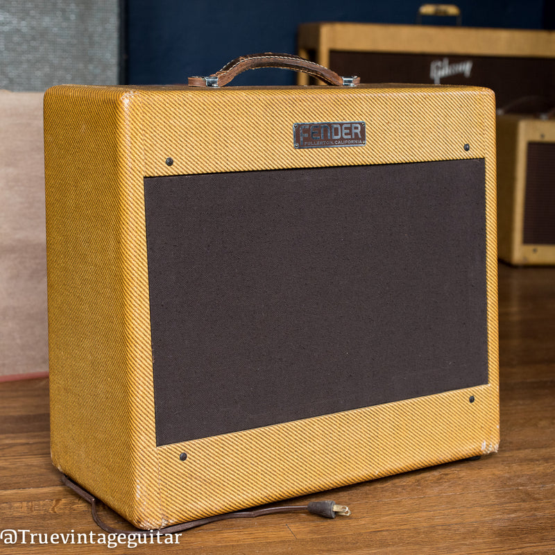 Vintage 1953 Fender Deluxe guitar amp tweed