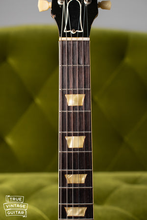 Fretboard, trapezoid inlays, Vintage 1954 Gibson Les Paul goldtop