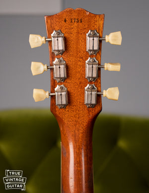 Back of headstock, Vintage 1954 Gibson Les Paul goldtop
