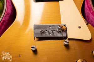 P-90 bridge pickup base plate, Vintage 1954 Gibson Les Paul goldtop