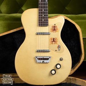 1956 Danelectro U-2 Grained Ivory Leatherette with case