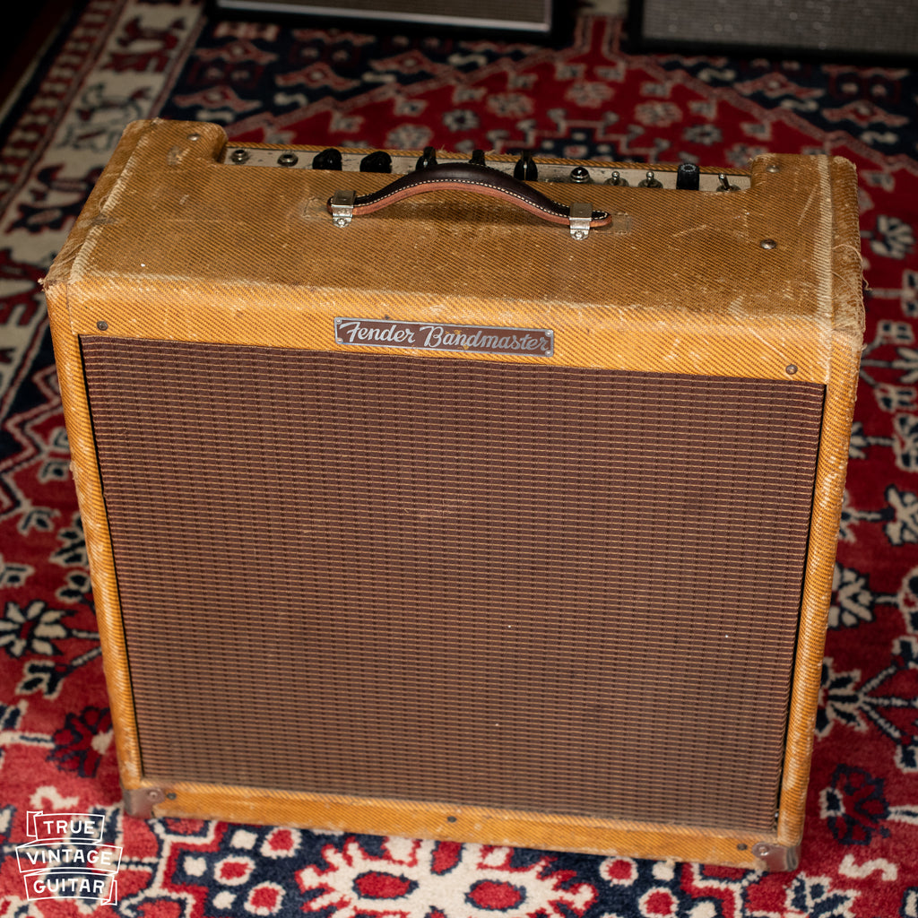 Vintage Tweed Fender Bandmaster guitar amp