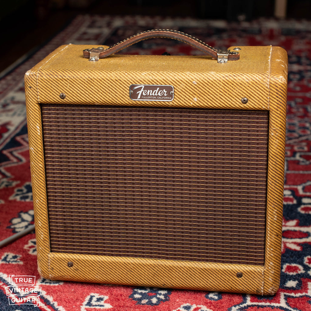 Vintage 1957 Fender Champ guitar amp tweed