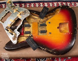 under pickguard 1962 Fender Jazzmaster