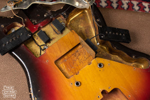 7/62 bridge pickup cavity pencil date 1962 Jazzmaster