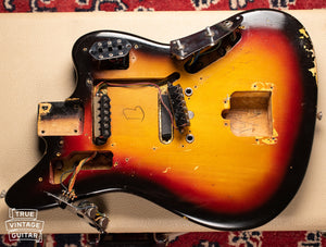 Body cavity dates, Vintage 1963 Fender Jaguar Sunburst guitar