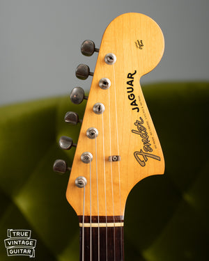 Headstock, Vintage 1963 Fender Jaguar Sunburst