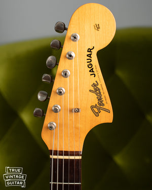 Headstock, neck, Vintage 1963 Fender Jaguar Sunburst