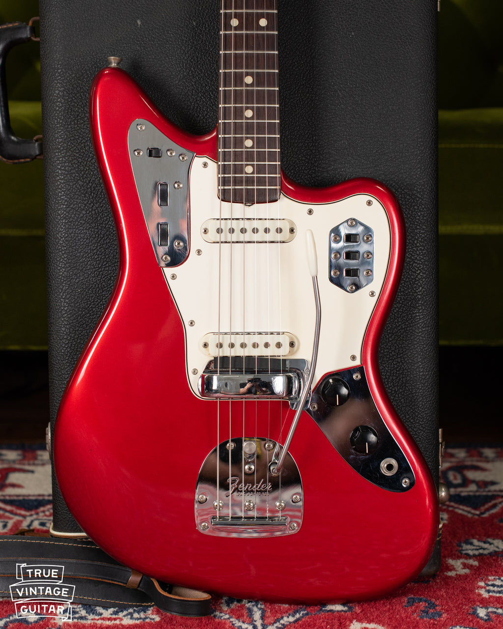 Vintage 1960s Fender Jaguar Red