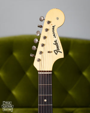 Matching headstock olympic white Jaguar