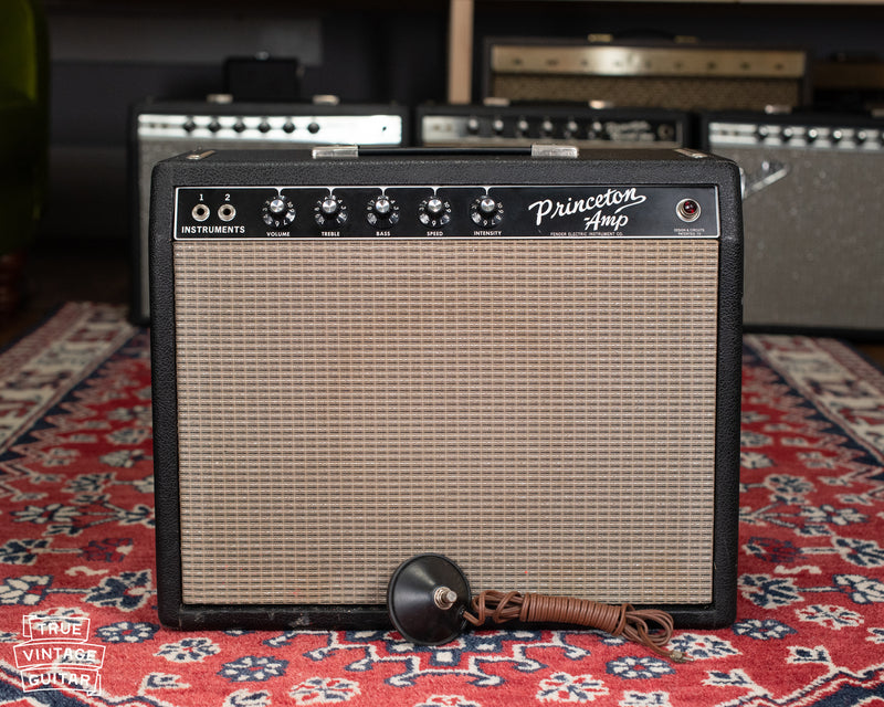 vintage Fender guitar amp black
