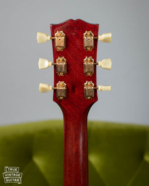 Gibson headstock, gold Kluson tuners, 1965