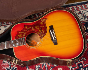 vintage Gibson Hummingbird acoustic guitar 1965