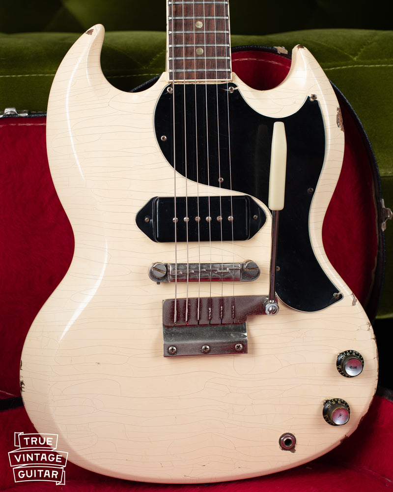 Vintage 1965 Gibson SG TV Junior White guitar