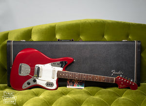 Vintage Fender Jaguar electric guitar red