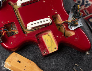 Fender Jaguar neck pocket 1966 Red
