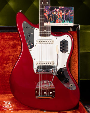 1966 Fender Jaguar Candy Apple Red Vintage Guitar