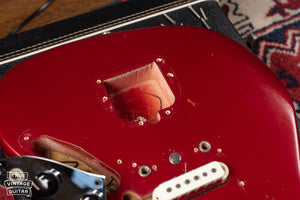 Tremolo cavity Candy Apple Red 1966 Fender