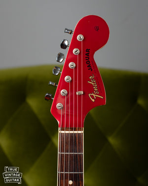 Fender Jaguar Red Matching Headstock