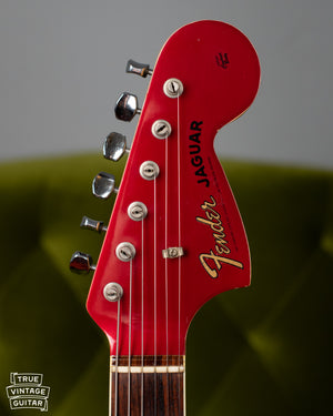 Vintage Fender Jaguar Red Matching headstock
