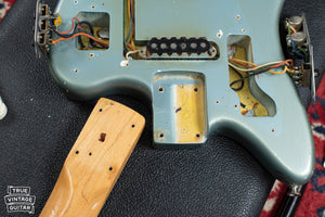 Fender neck pocket paint stick mark