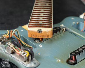 Fender neck heel date stamp 15APR66B