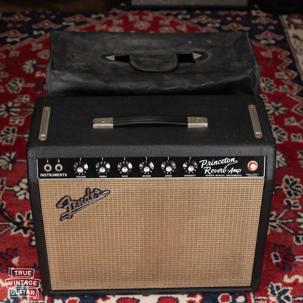 Fender Princeton Reverb amp with cover