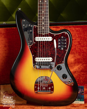 Vintage 1966 Fender Jaguar electric guitar, Sunburst finish