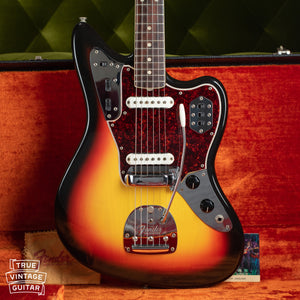 1966 Fender Jaguar Sunburst with hangtag and polish cloth