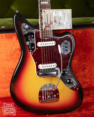 Original tag, instruction manual, Vintage 1966 Fender Jaguar Sunburst