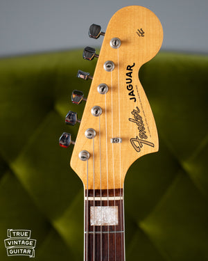 Headstock, Vintage 1966 Fender Jaguar Sunburst