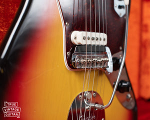 Fender mute, bridge mute, Vintage 1966 Fender Jaguar Sunburst