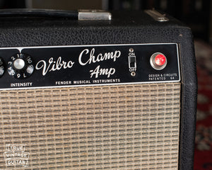 Vibro Champ black faceplate vintage 1967